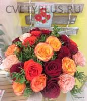 Розы цвет микс с зеленью фисташки 4025 руб.
