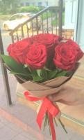 9 роз в упаковке крафт-1450 руб.
