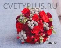 Свадебный двух сортов роз с брунией 3500 руб.