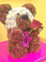Мишка с цветком -3500 р.